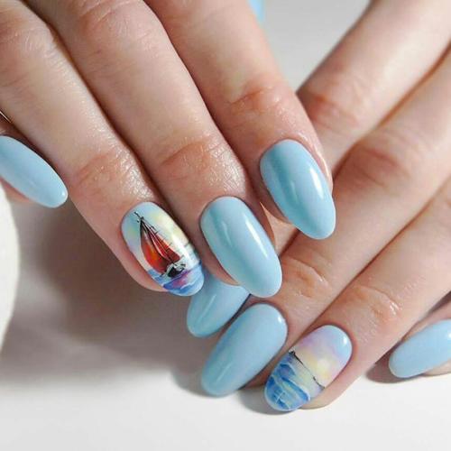 Дизайн ногтей летом
