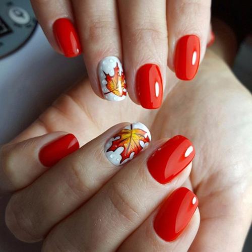Дизайн ногтей осенью