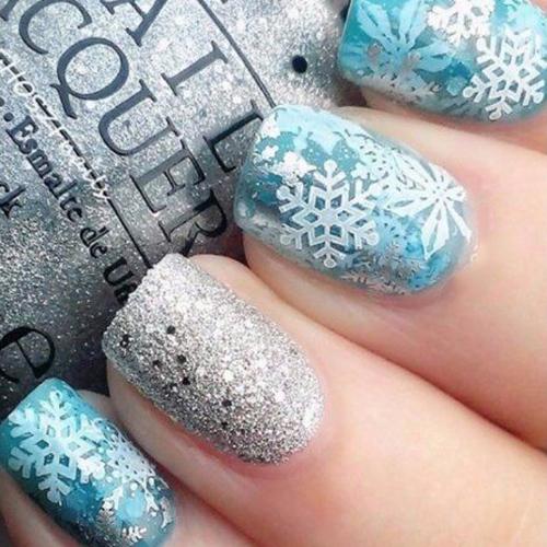Дизайн ногтей на зиму